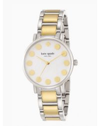 kate spade new york | Metallic Gramercy Dot Watch | Lyst
