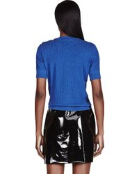 Marc Jacobs | Blue Crystal_embroidered Sweater | Lyst