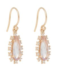 Irene Neuwirth - Green Diamond, Rose De France Amethyst & Rose Gold Drop Earrings Size Os - Lyst