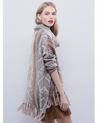 Free People - Natural Womens Be The One Poncho - Lyst