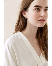Urban Outfitters - Metallic 18k Gold + Sterling Silver Small Hoop Earring - Lyst