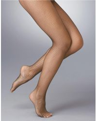 Hue | Natural Fishnet Stockings | Lyst