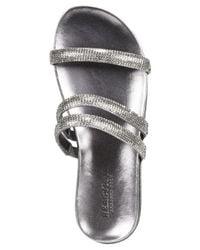 Kenneth Cole Reaction | Metallic Slim Shotz Flat Sandals | Lyst