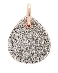 Monica Vinader - Pink Alma Rose Gold-Plated Diamond Earrings - Lyst