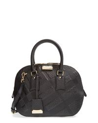 743d27ba4d62 Lyst - Burberry  small Heritage Orchard  Leather Satchel in Black