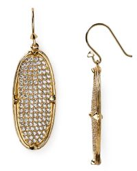 Melinda Maria | Metallic Orion Pavé Drop Earrings | Lyst