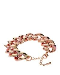 ASOS - Metallic Two Colour Link Bracelet - Lyst