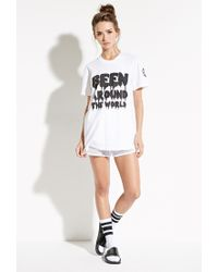 Forever 21 - White This Is A Love Song Been Around Tee - Lyst