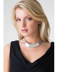 Bebe - Metallic Mesh & Metal Necklace - Lyst