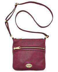 Fossil | Purple Explorer Leather Mini Crossbody | Lyst