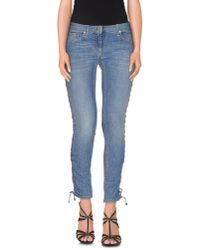 Elisabetta Franchi - Blue Denim Trousers - Lyst