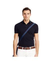 Ralph Lauren Black Label | Blue Stretch-cotton Polo Shirt for Men | Lyst