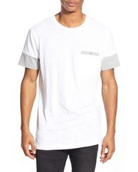 Ezekiel | White 'perry' Cut And Sew Pocket Crewneck T-shirt for Men | Lyst