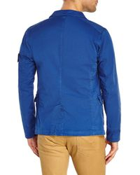 Stone Island | Blue Woven Jacket for Men | Lyst