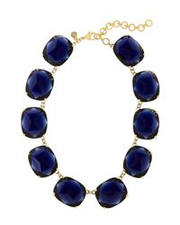 Brooks Brothers | Blue Large Glass Bead Necklace | Lyst