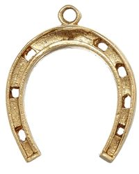 Annina Vogel | Metallic Vintage Gold Thin Horseshoe Charm | Lyst