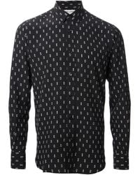 Saint Laurent - Black Printed Shirt for Men - Lyst