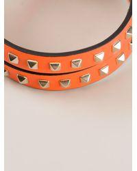 Valentino - Orange Rockstud Bracelet - Lyst