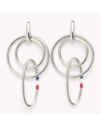 Tommy Hilfiger - Metallic Signature Earrings - Lyst