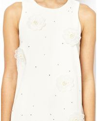 Darling - White Shift Dress With Embellishment - Lyst