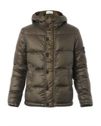 Stone Island | Green Garment-dyed Lightweight Quilted Jacket for Men | Lyst