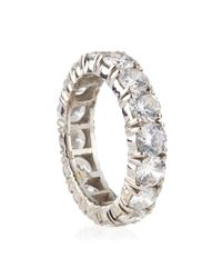 Fantasia by Deserio - White 4.25Mm Cubic Zirconia Eternity Band Ring - Lyst