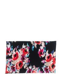 kate spade new york - Red Hazy Floral Oblong Scarf - Lyst