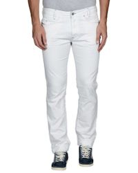 DIESEL - White Casual Trouser for Men - Lyst