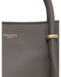 Nina Ricci - Gray Medium Marché Leather & Suede Bag - Lyst