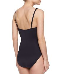 La Blanca - White Las Palmas Printed Ruched-center One-piece Swimsuit - Lyst