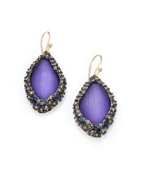 Alexis Bittar | Purple Lucite Framed Drop Earrings | Lyst
