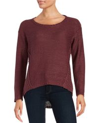 Lord & Taylor | Purple Hi-lo Knit Sweater | Lyst