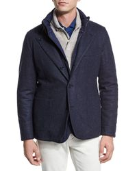 Loro Piana - Blue Reversible Cashmere-nylon Field Jacket for Men - Lyst