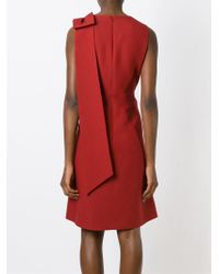 Valentino - Red Bow Detail Dress - Lyst