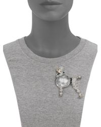 Alexis Bittar | Metallic Sport Deco Lucite & Crystal Jelly Belly Poodle Pin | Lyst