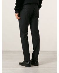 Les Hommes - Black Tapered Leg Trousers for Men - Lyst