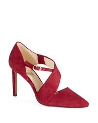 Nine West | Red Chillice Strappy Heels | Lyst