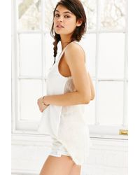 Truly Madly Deeply - White Destroyed Scoop-neck Tank Top - Lyst