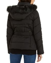 Oasis - Black Gemma Short Padded Coat - Lyst