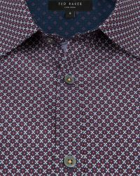 Ted Baker | Purple Target Print Shirt for Men | Lyst