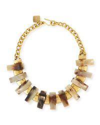 Ashley Pittman | Metallic Jumbe Light Horn & Bronze Collar Necklace | Lyst
