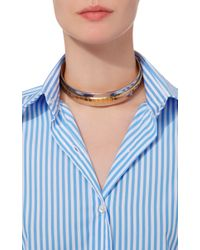 Monica Sordo - Metallic Croisette 24k Gold And Rhodium Four-way Neck Piece - Lyst
