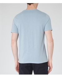 Reiss | Blue Imperial Raw Edge T-shirt for Men | Lyst