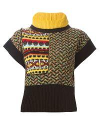 I'm Isola Marras - Black Detachable Collar Knit Top - Lyst