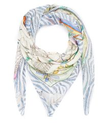 Swash London - Multicolor Multicolour Candy Land Print Silk Scarf - Lyst