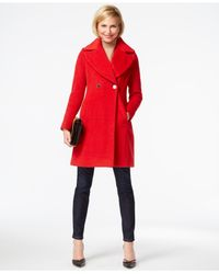 Tahari | Red Two-button Peacoat | Lyst