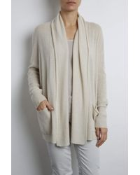 INHABIT | Natural Cashmere Feather Weight Open Front Cardigan | Lyst