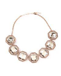 Ca&Lou - Pink Brune Serti Necklace - Lyst