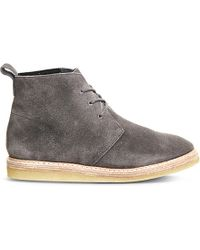 Clarks - Gray Empress Moon Suede Boots for Men - Lyst