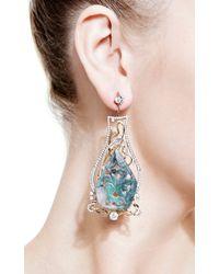 Bochic - Green Emerald and Diamond Earrings - Lyst